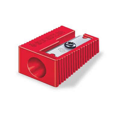 Staedtler Pencil Sharpener Plastic Single Hole - Red