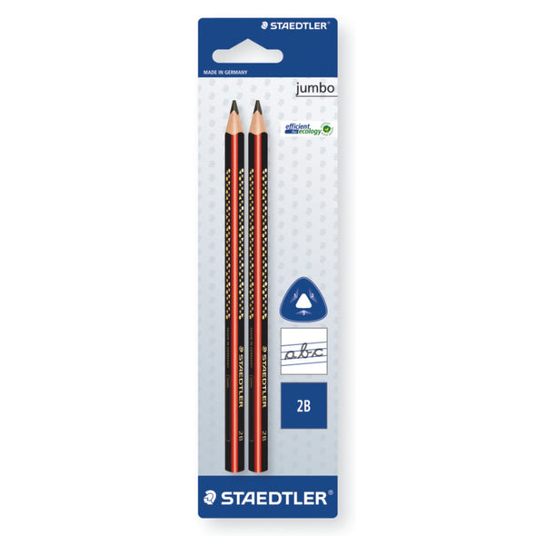 Staedtler Triangular Jumbo Pencil 2B - Twin Pack - School Depot NZ