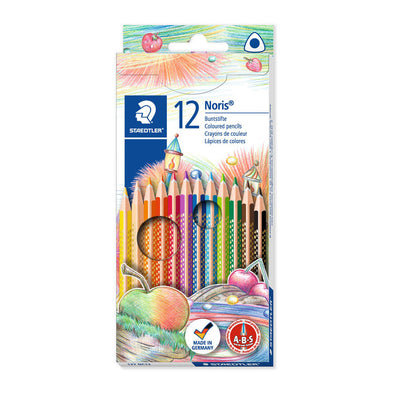Staedtler Triangular Coloured Pencils Noris Club 12 Shades