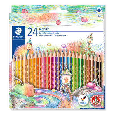 Staedtler Triplus Triangular Coloured Pencils Noris Club 24 Shades