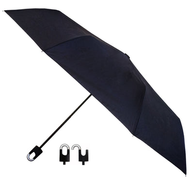 Students Rain Umbrella with Hook and Loop Black
