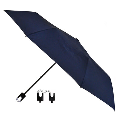 Students Rain Umbrella with Hook and Loop Navy