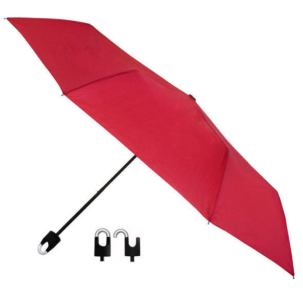 Students Rain Umbrella with Hook and Loop Red