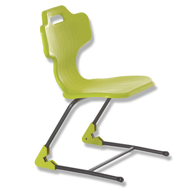 Classroom Chair student chair green BFX e-chair sled base