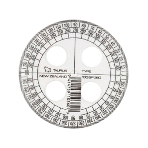 Protractor - Taurus 10 cm 360° Protractor - School Depot NZ