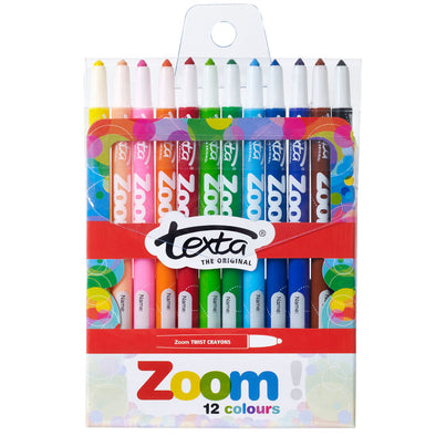 Texta Zoom Twistable Crayons Pack 12