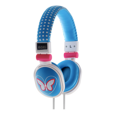 Moki Headphones Popper - Butterfly Blue - School Depot NZ