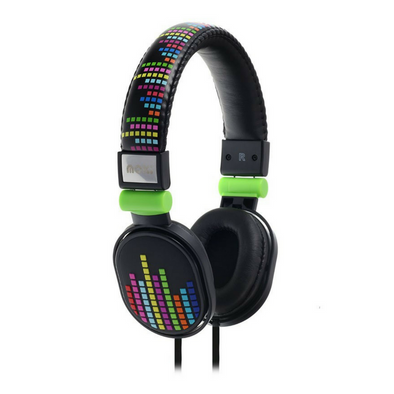 Moki Headphones Popper - Levels Black - School Depot NZ