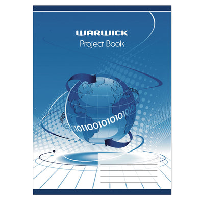 Warwick Project Book Blue 20 Leaf