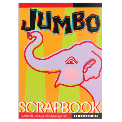 Warwick Scrapbook Jumbo Coloured Paper 56 Pages