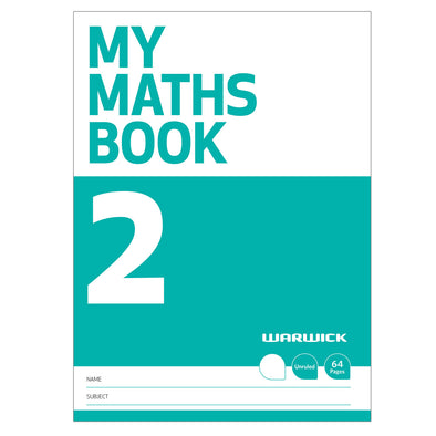 Warwick My Maths Book 2 Unruled 64 Pages