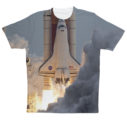 Space-Shuttle-Endeavour Sublimation Performance Adult T-Shirt  - FlyTees