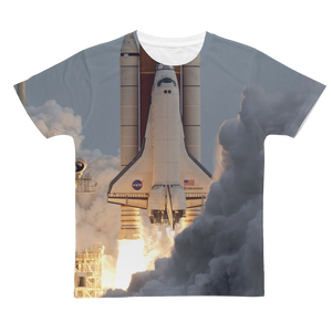 Space and Time Short sleeve men's t-shirt (unisex)  - FlyTees