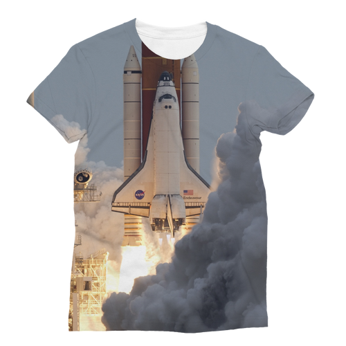 Space-Shuttle-Endeavour Classic Sublimation Adult Tank Top  - FlyTees