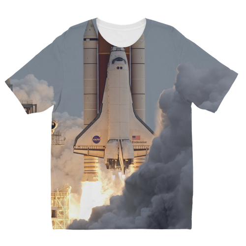 Space-Shuttle-Endeavour Sublimation Kids T-Shirt  - FlyTees