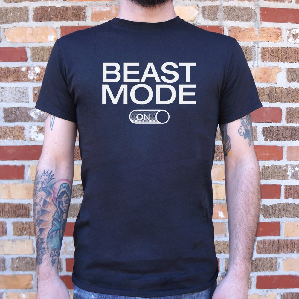 Mens Beast Mode On T-Shirt