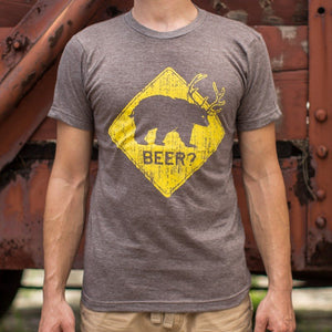 Mens Beer Eagle T-Shirt  - FlyTees