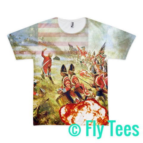 Bunker Hill 2 Short sleeve men's Sublimation t-shirt (unisex) for Larger then Life people