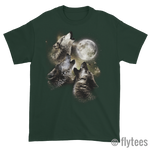 Wolf Moon Short sleeve t-shirt - FlyTees