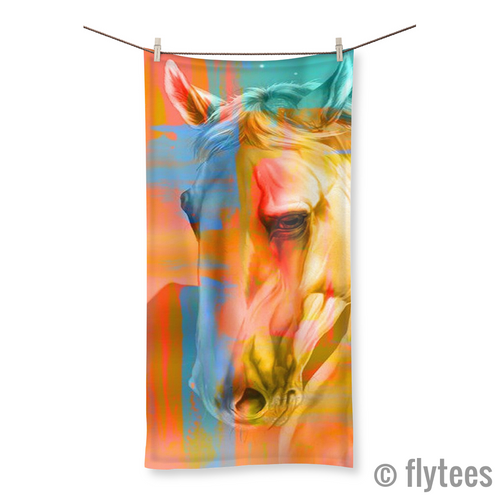 That's a Horse of a Different Color Beach Towel  - FlyTees
