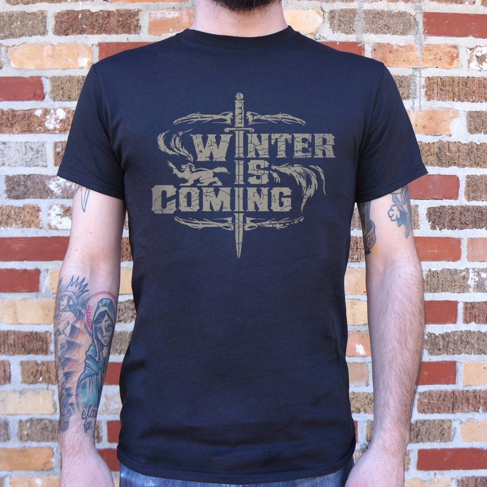 Mens Winter Is Coming T-Shirt  - FlyTees