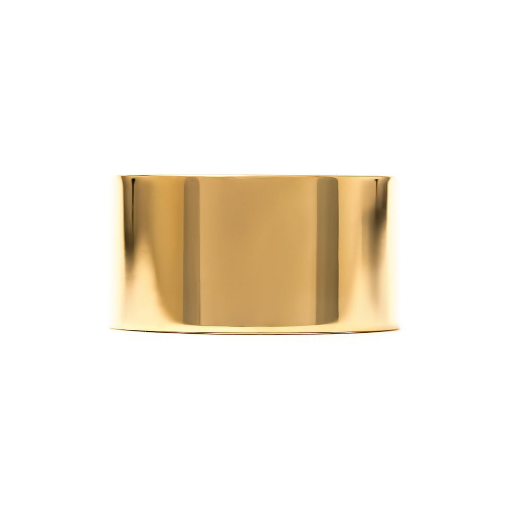 10mm cigar band in 14k yellow gold