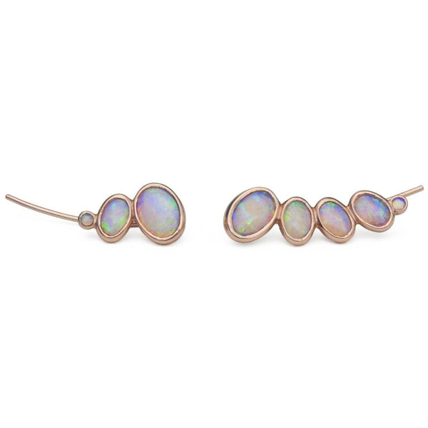 Opal ear climbers | Asymmetric pair