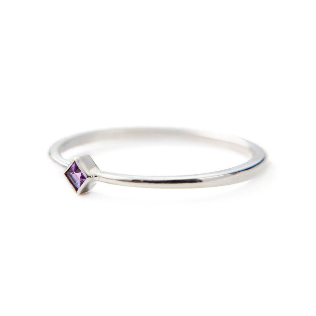 2mm princess cut diamond engagement ring or everyday ring with