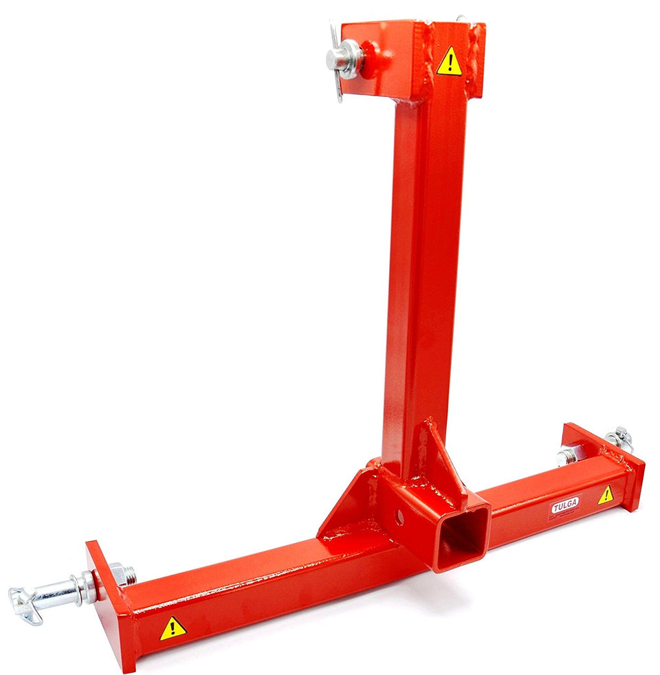 "3 Point Trailer Hitch Adapter Category 1 Tow Drawer Convert to 2"" Receiver for BX L3200 Kubota Farm Compact Tractors"