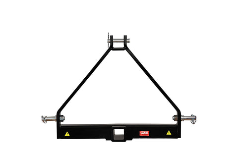 "Tulga Fifth Wheel Co 3 Point Trailer Hitch 2"" Receiver Adapter Drawbar Hitch Mounts Cat 1 Tractor Kubota Subtractors"