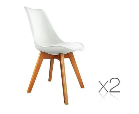 Replica Eames Dining Chairs - PU Leather (Pair)