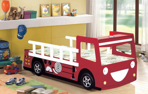 Kid's Single Fire Engine Bed