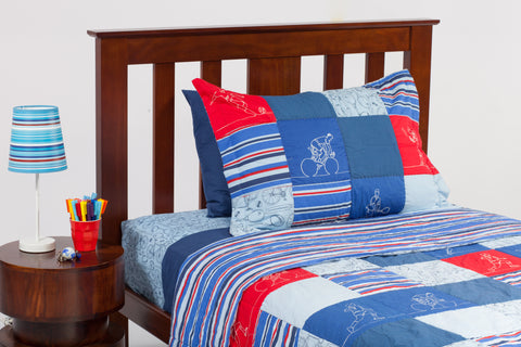 Sports Patchwork Coverlet