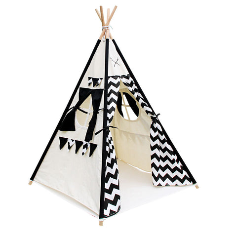 Kids Teepee Tent - Black