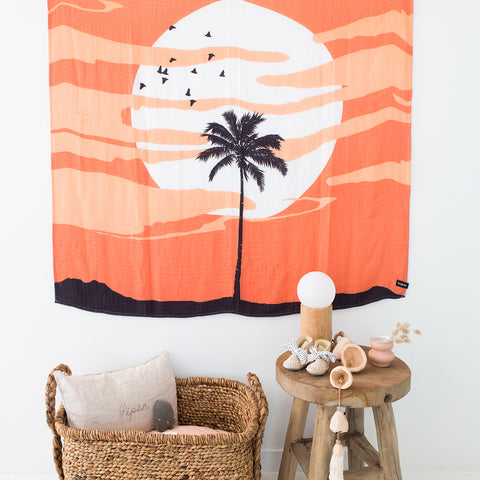 sunset lifestyle image shot wall hanging