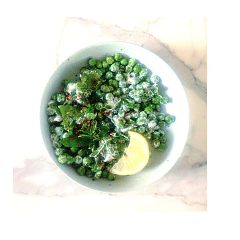 say peas for breakfast mint ricotta peas feta lemon mint chilli orli natural and organic skincare and beauty australia