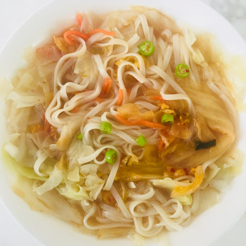 kim chi noodles healthy gut recipes by orli natural beauty and organic skincare australia