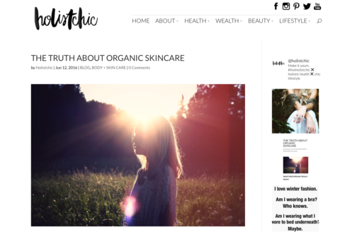 holistchic article by orli what does organic really mean, organic definition orli australia