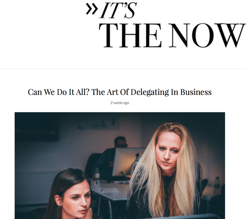 orli for it's the now the importance of delegating