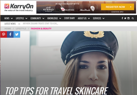 orli for Karryon top natural skincare tips when travelling organic skincare and beauty