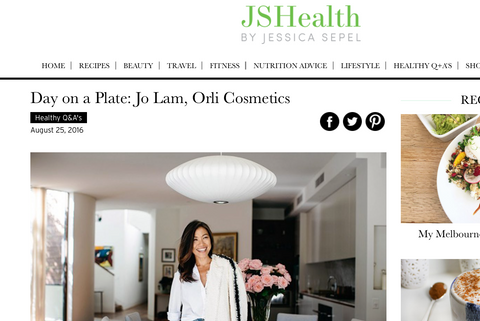 Jo Lam from orli interview with jshealth day on a plate