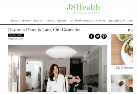 JS health a day on a plate with Jo Lam founder organic and natural skincare and beauty australia