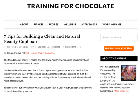 orli natural and organic skincare australia for training for chocolate on tips for building a clean and natural beauty cupboard
