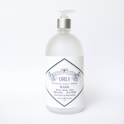 orli natural and organic sls free wash in glass or PET australia