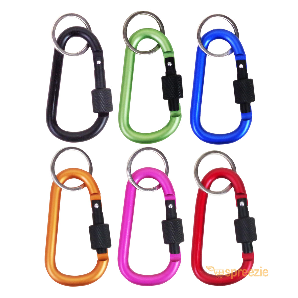 Lot of 24 Carabiner Water Bottle Holder Hook Lock Keychain Belt Clip Clamp New