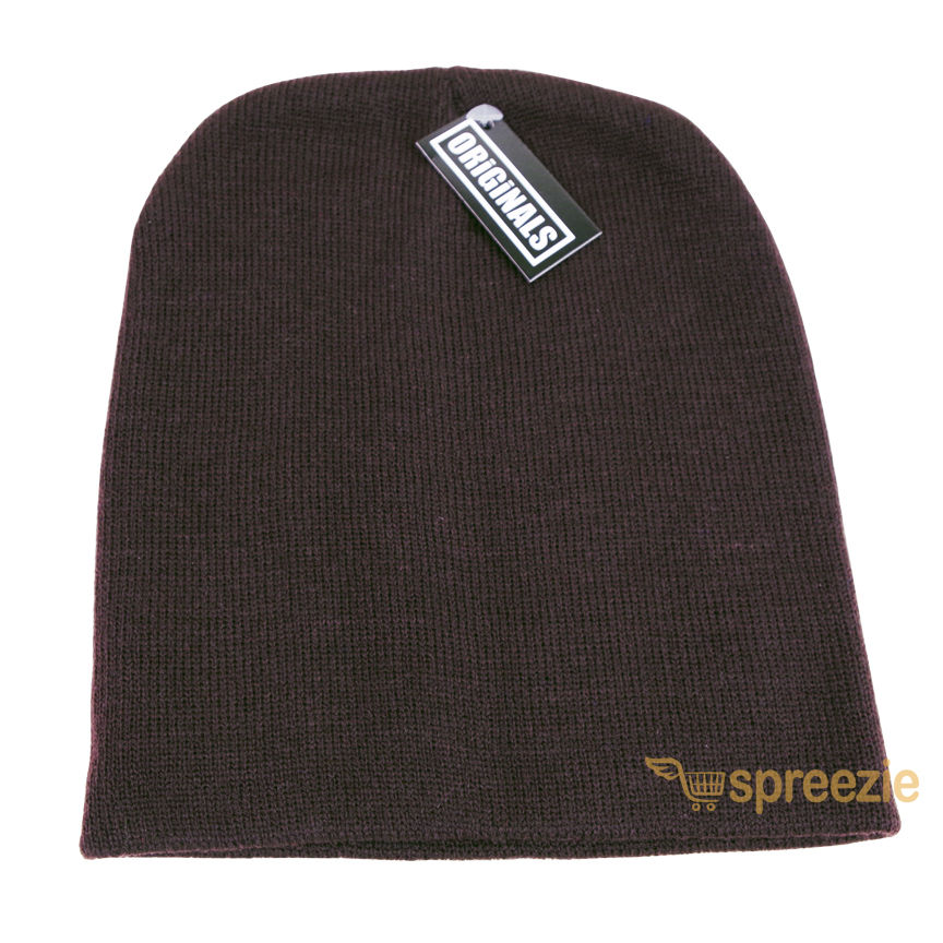 a3c02ee470c Skull Cap Plain Beanie Knitted Ski Hat Skully Warm Winter Solid Colors  Headgear Originals
