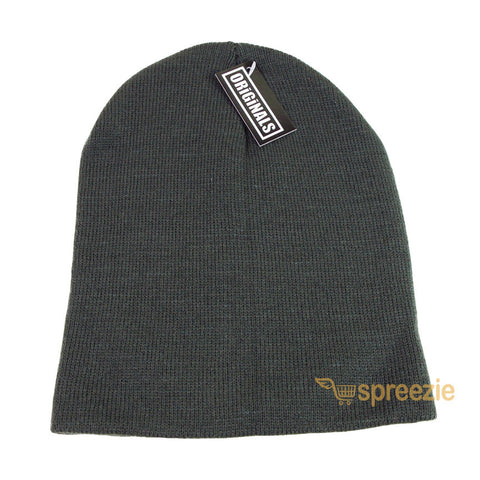 6366fcf22ac ... Skull Cap Plain Beanie Knitted Ski Hat Skully Warm Winter Solid Colors  Headgear Originals ...