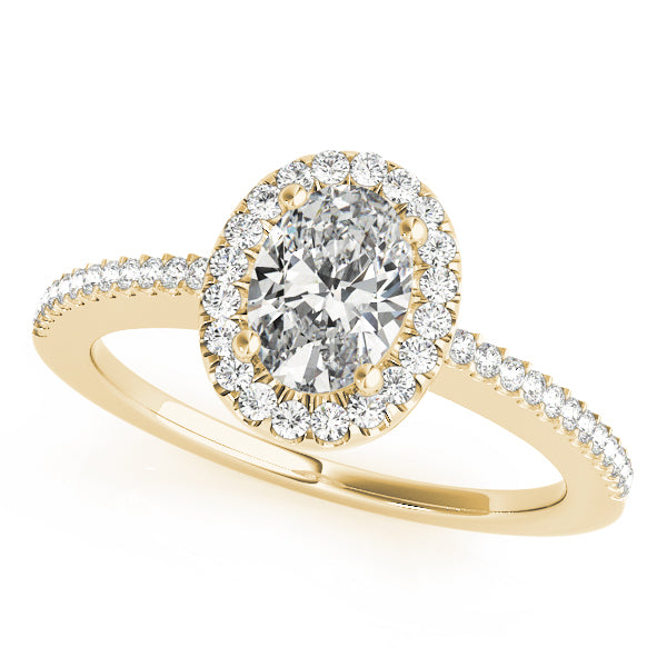 Oval Halo Engagement Ring Style LY71913