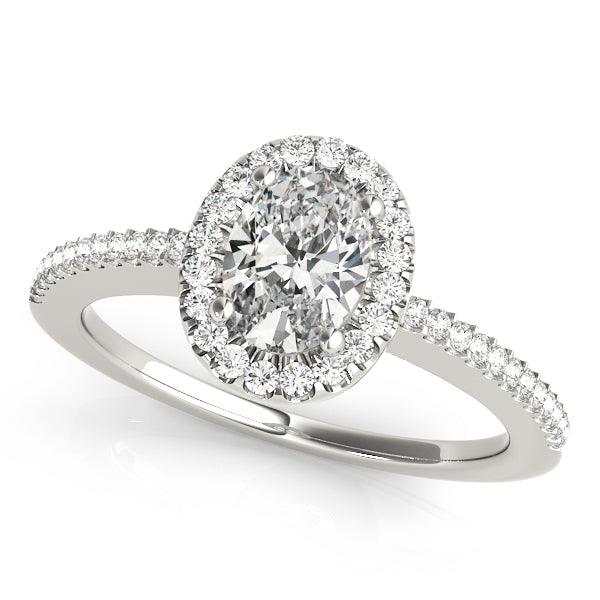 Oval Halo Engagement Ring Style LY71913 - Lyght Jewelers 10040 W Cheyenne Ave Ste 160 Las Vegas NV 89129