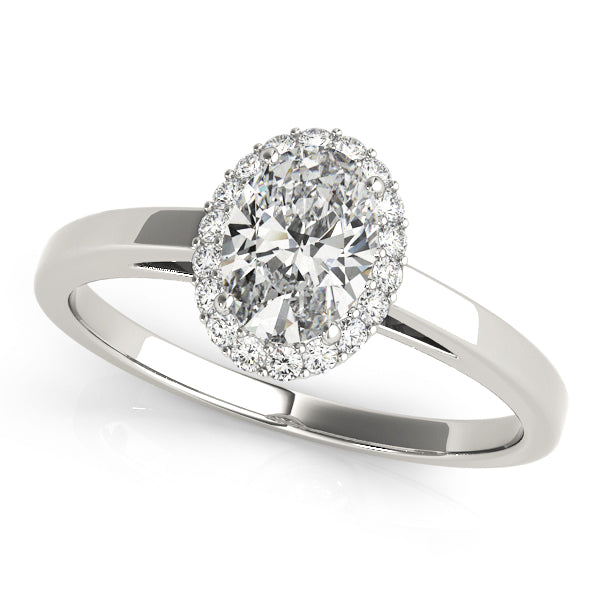 Oval Halo Engagement Ring Style LY71904